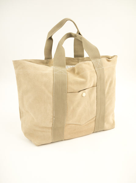 M.C.Overalls MCOA001 Suede Tote Bag Oatmeal The Northern Fells Clothing Company Full