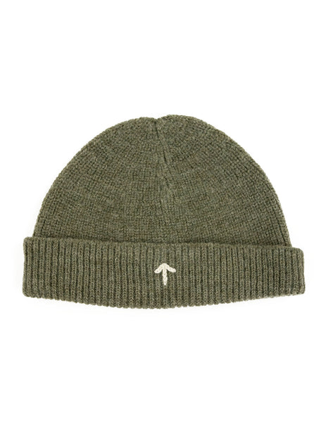 Nigel Cabourn ACC4 Authentic Wool Broad Arrow Beanie Army The Northern Fells Clothing Company Front