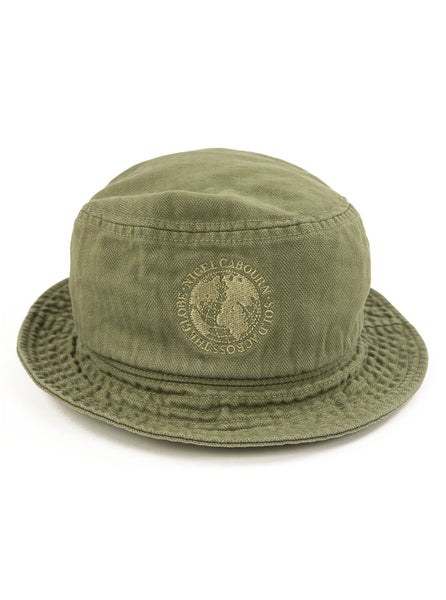 Nigel Cabourn Lybro - Globe Bucket Hat - Army - Northern Fells