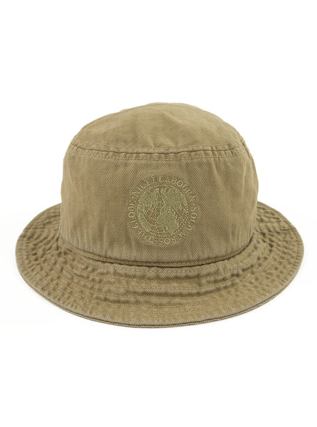 Nigel Cabourn Lybro - Globe Bucket Hat - Tan - Northern Fells