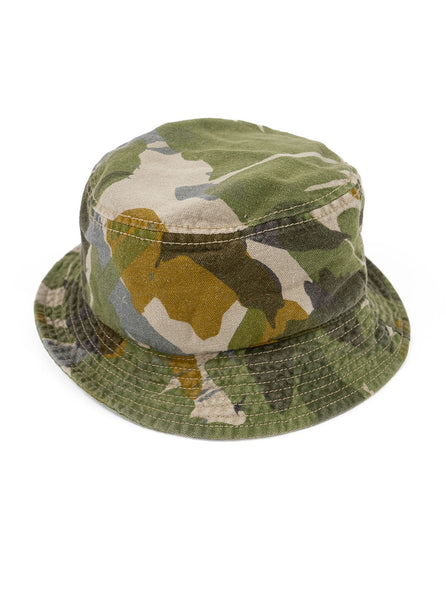 Nigel Cabourn Camo Bucket Hat The Northern Fells Clothing Company Full