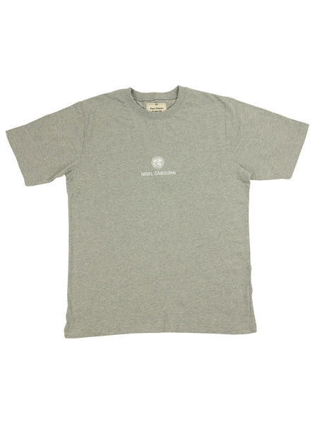 Nigel Cabourn Army Gym - Globe Logo Tee - Grey Marl - Northern Fells