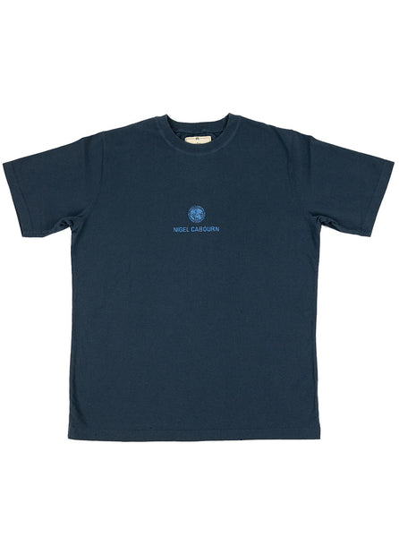Nigel Cabourn Globe Tee Navy The Northern Fells Clothing Company Full