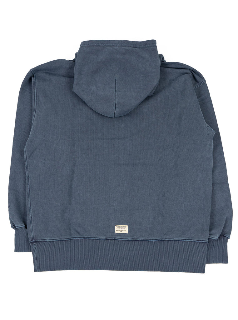 Nigel Cabourn Hoodie Black Navy The Northern Fells Clothing Company Back