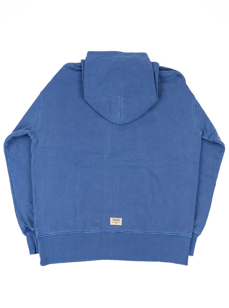 Nigel Cabourn Hoodie Washed Blue The Northern Fells Clothing Company Back
