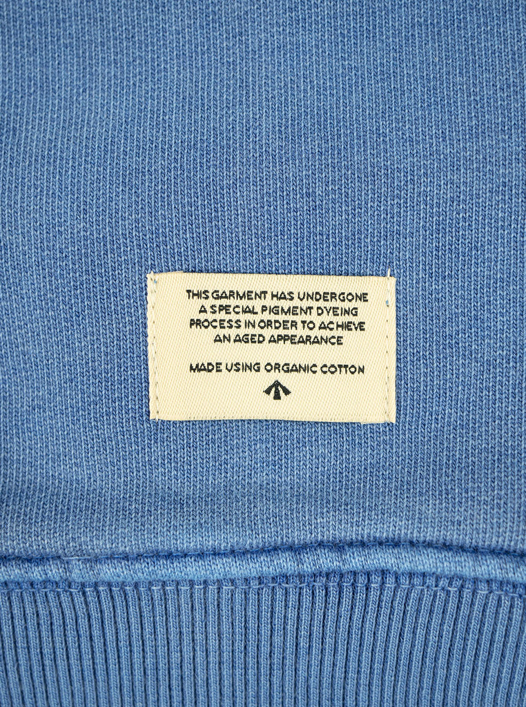Nigel Cabourn Hoodie Washed Blue The Northern Fells Clothing Company Detail