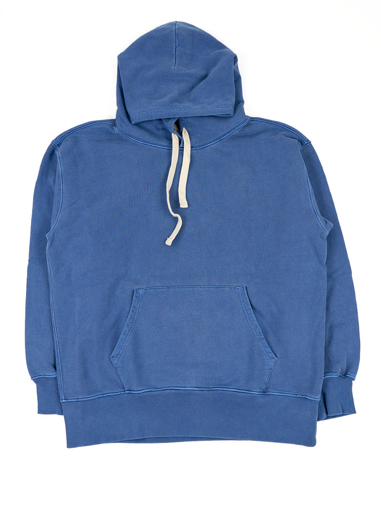 Nigel Cabourn Hoodie Washed Blue The Northern Fells Clothing Company Full