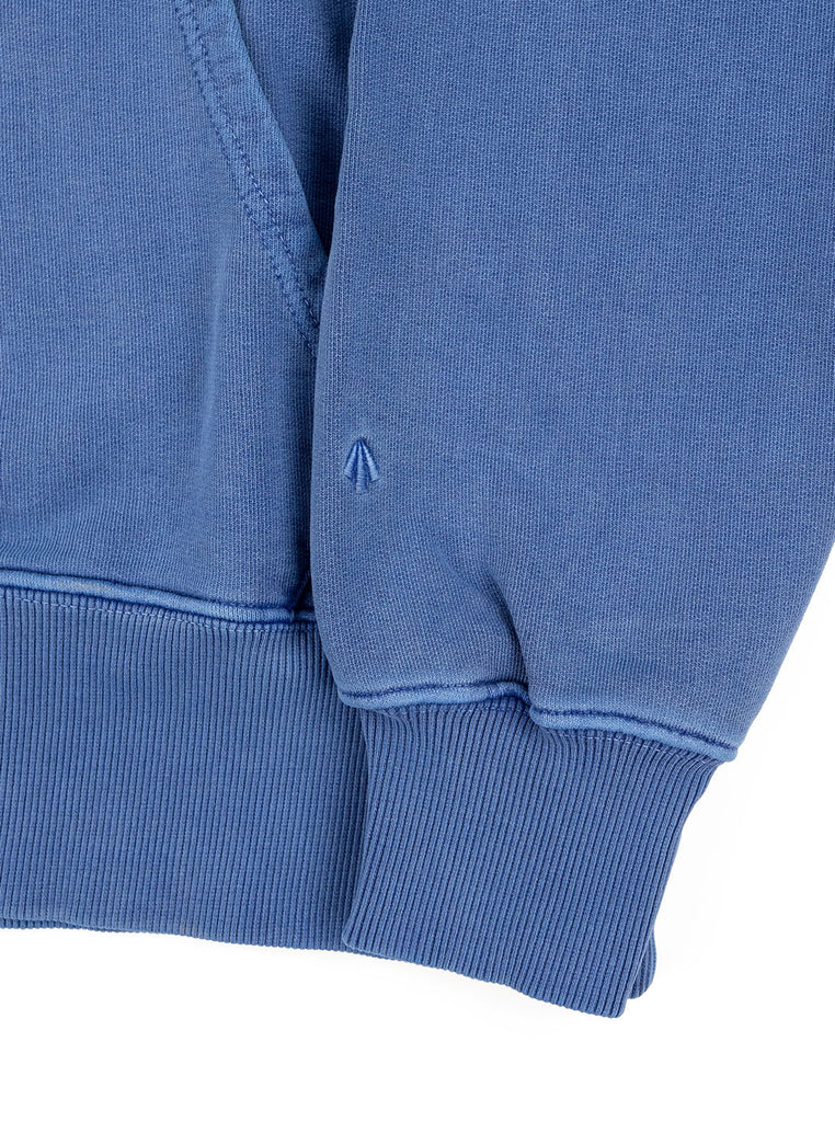 Nigel Cabourn Hoodie Washed Blue The Northern Fells Clothing Company Sleeve