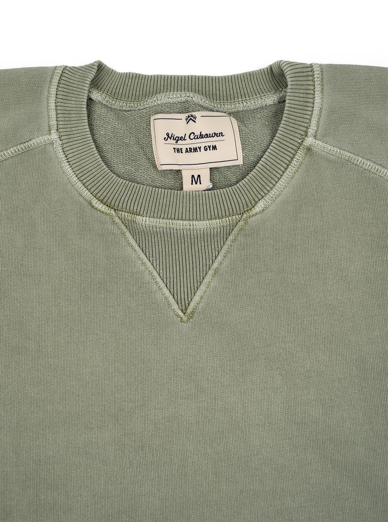 Nigel Cabourn J 54 Crew Sweat Washed Army The Northern Fells Clothing Company Neck
