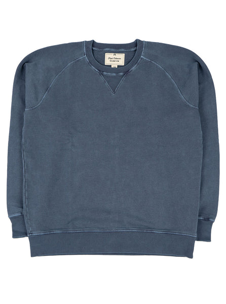 Nigel Cabourn J 54 Crew Sweat Washed Black Navy The Northern Fells Clothing Company Full