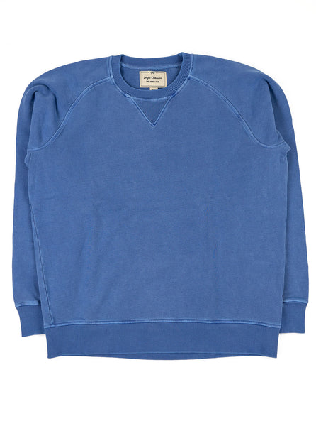 Nigel Cabourn J 54 Crew Sweat Washed Blue The Northern Fells Clothing Company Full