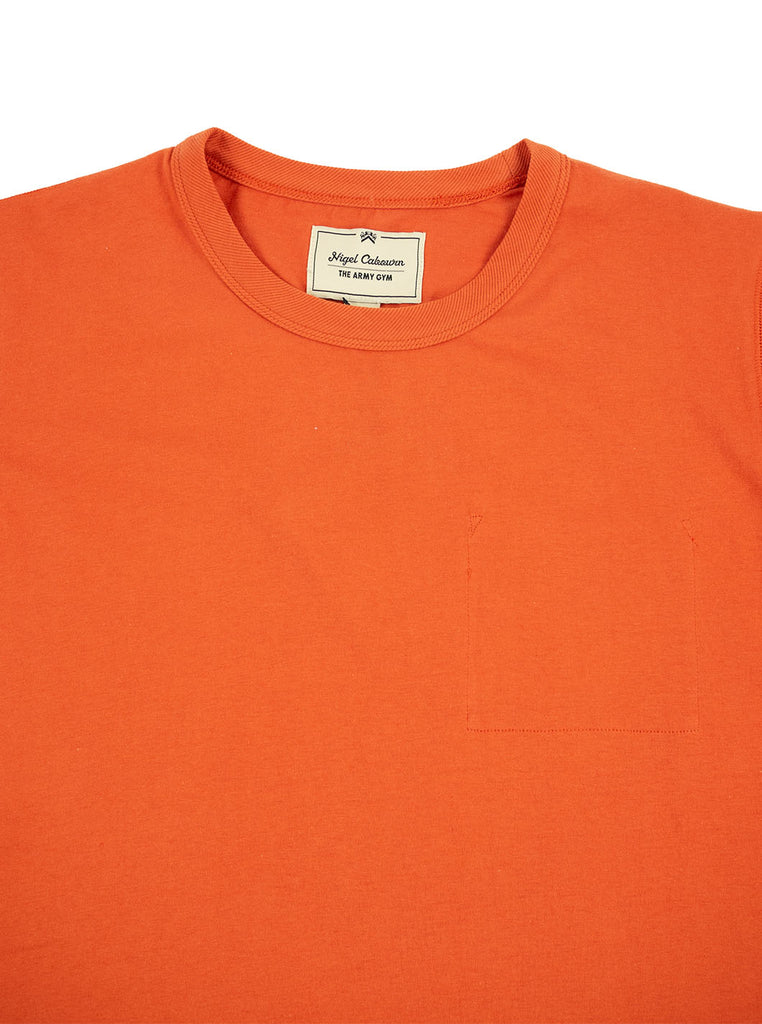 Nigel Cabourn Army Gym - Army Tee - Vintage Orange - Northern Fells