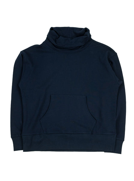 Nigel Cabourn J58 Army Gym Roll Neck Sweat Navy The Northern Fells Clothing Company Full