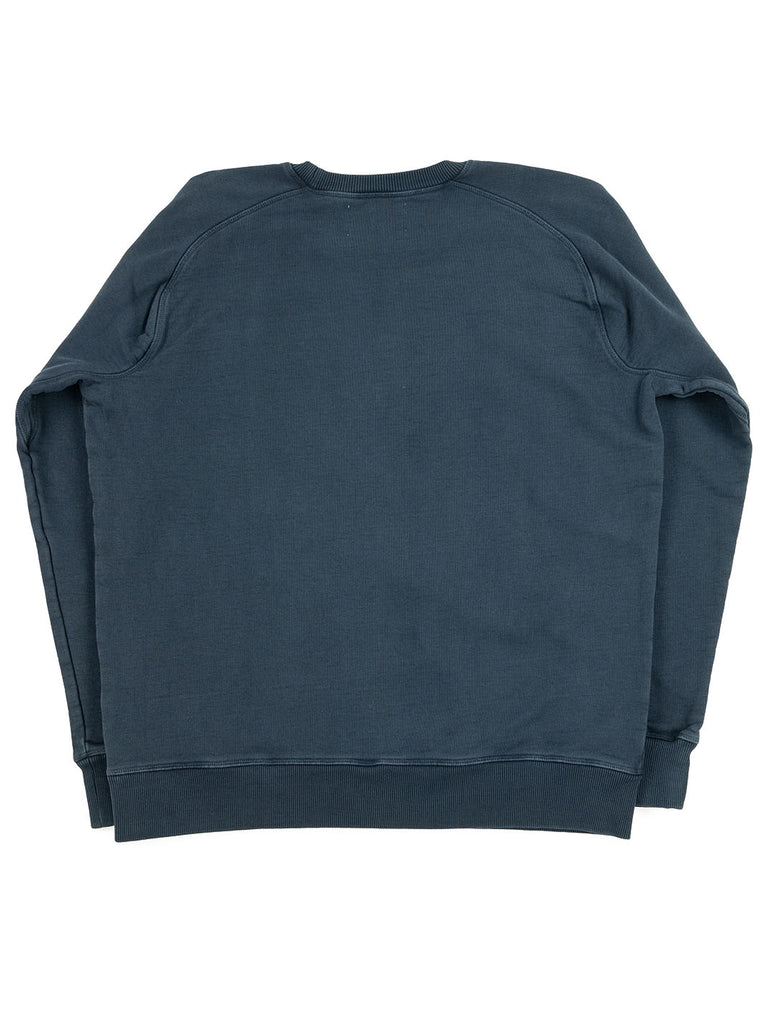 Nigel Cabourn Logo Crew Blue Black The Northern Fells Clothing Company Back