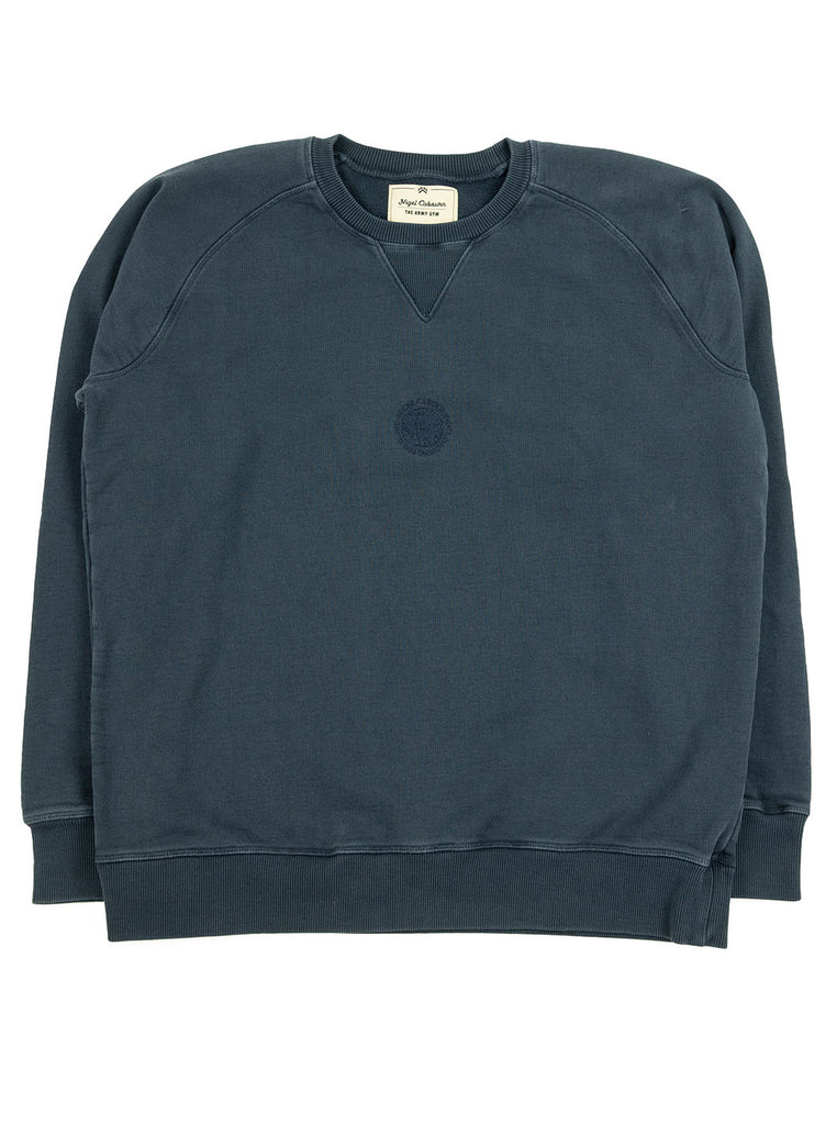 alNigel Cabourn Logo Crew Blue Black The Northern Fells Clothing Company Full