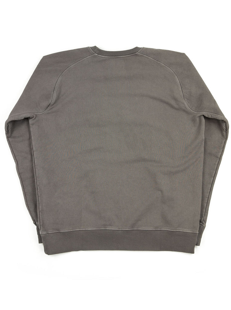 aNigel Cabourn Logo Crew RAF Grey The Northern Fells Clothing Company Back