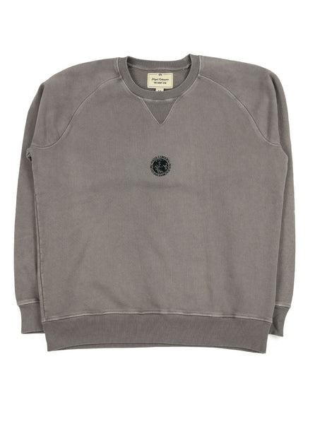 Nigel Cabourn Logo Crew RAF Grey The Northern Fells Clothing Company Full