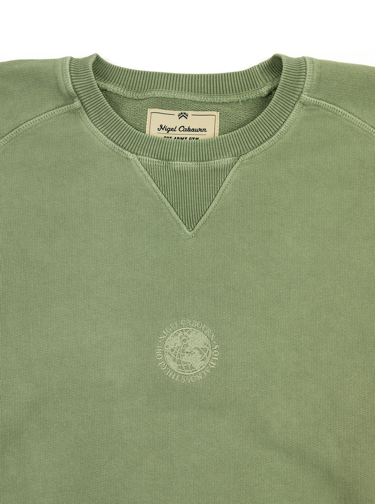 Nigel Cabourn Logo Crew Washed Army The Northern Fells Clothing Company Neck