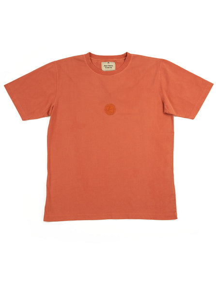Nigel Cabourn Logo Tee Vintage Orange The Northern Fells Clothing Company Full