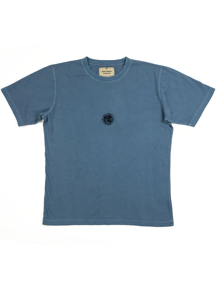 Nigel Cabourn - Logo Tee - Washed Blue