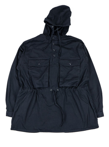Nigel Cabourn OW 52 Track Smock Poplin Black Navy The Northern Fells Clothing Company Full