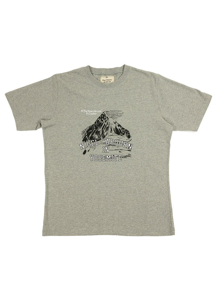 Nigel Cabourn - Tourist Tee - Grey Marl - Northern Fells