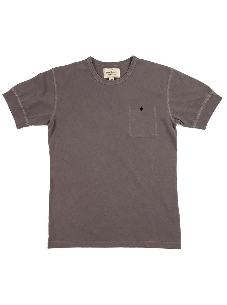 Nigel Cabourn Warm Up Military Tee RAF Grey The Northern Fells Clothing Company Full