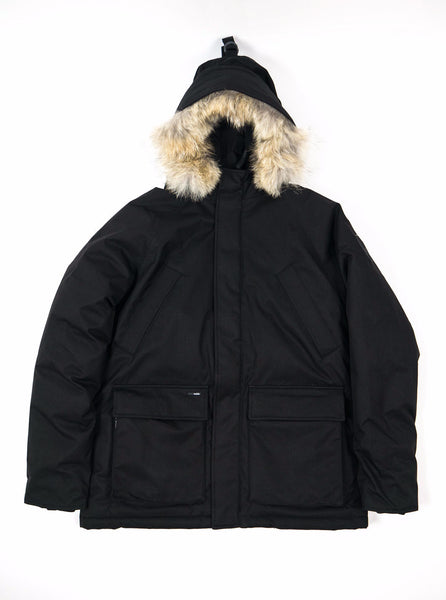 "alt=""Nobis-Heritage-Down-Heritage-parka-black-Northern-fells-main"""