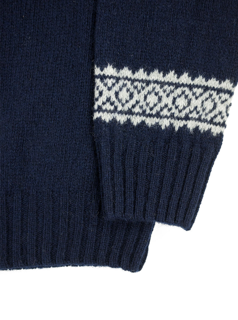 Northern Fells - Fair Isle Unisex Sweater - Navy/ Silver - Northern Fells