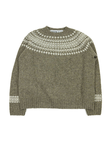 Northern Fells - Fair Isle Woman's Sweater - Oyster - Northern Fells