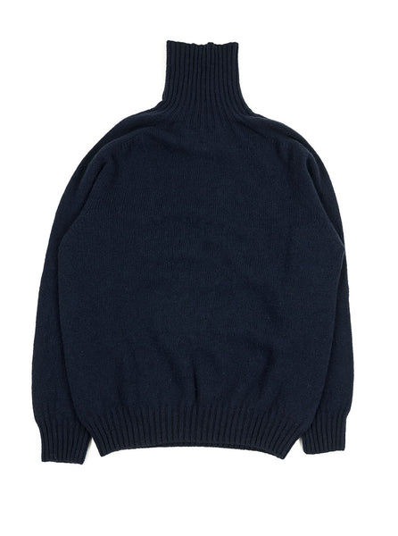 Northern Fells - Fishermans Roll Neck Sweater - Navy - Northern Fells