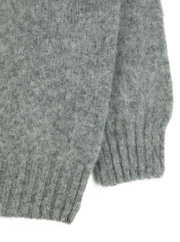 Northern Fells - Brushed Crewneck Sweater - Med Grey - Northern Fells