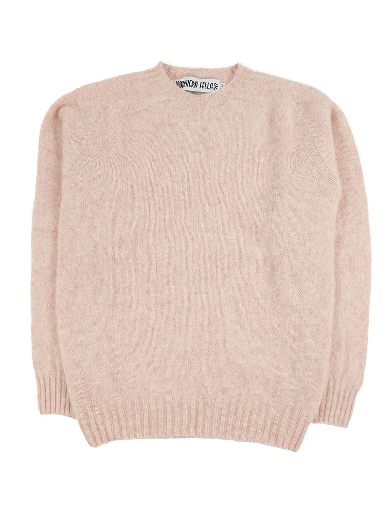 Northern Fells Shetland 100% Pure New Wool Sweater Strawberry Sherbet The Northern Fells Clothing Company Full