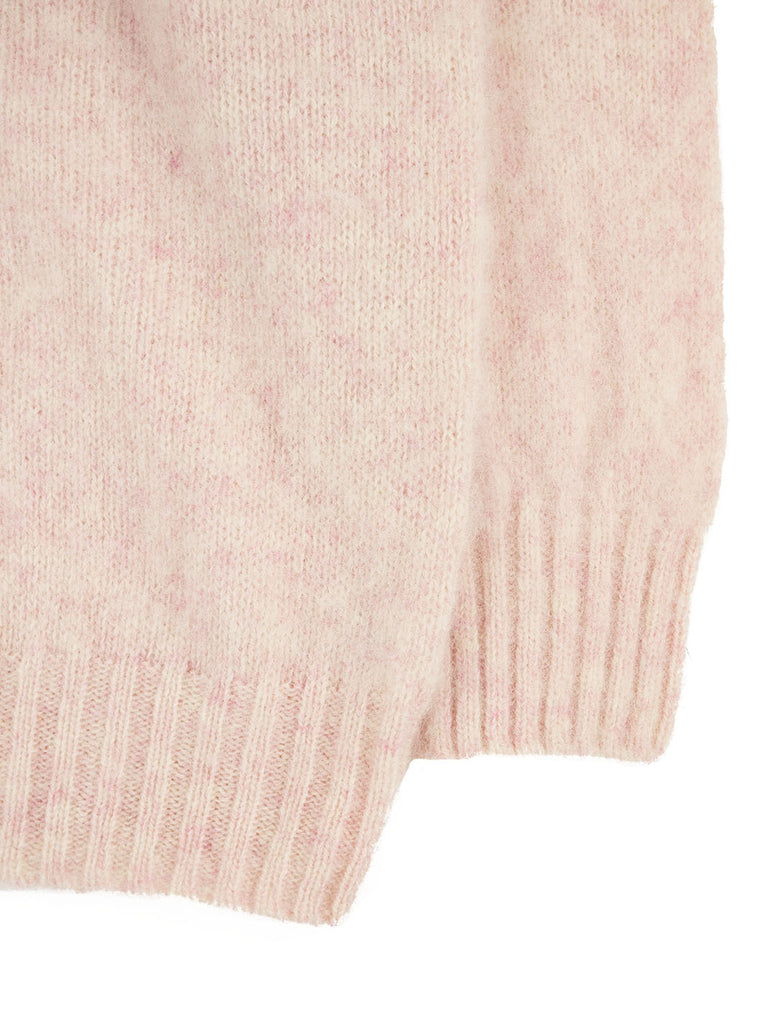 Northern Fells Shetland 100% Pure New Wool Sweater Strawberry Sherbet The Northern Fells Clothing Company Sleeve