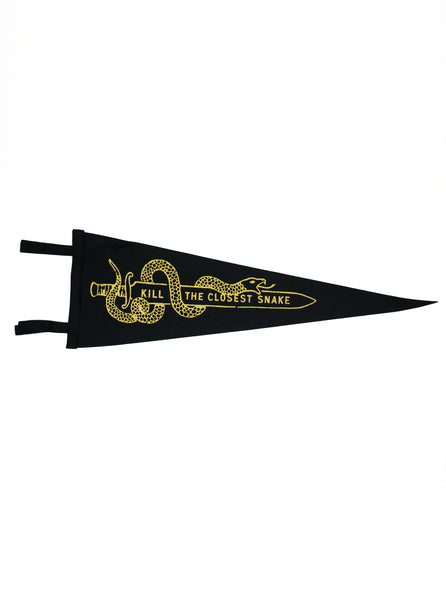 Oxford Pennant - Kill the Closest Snake - Felt Wool - Black/ Gold - Northern Fells