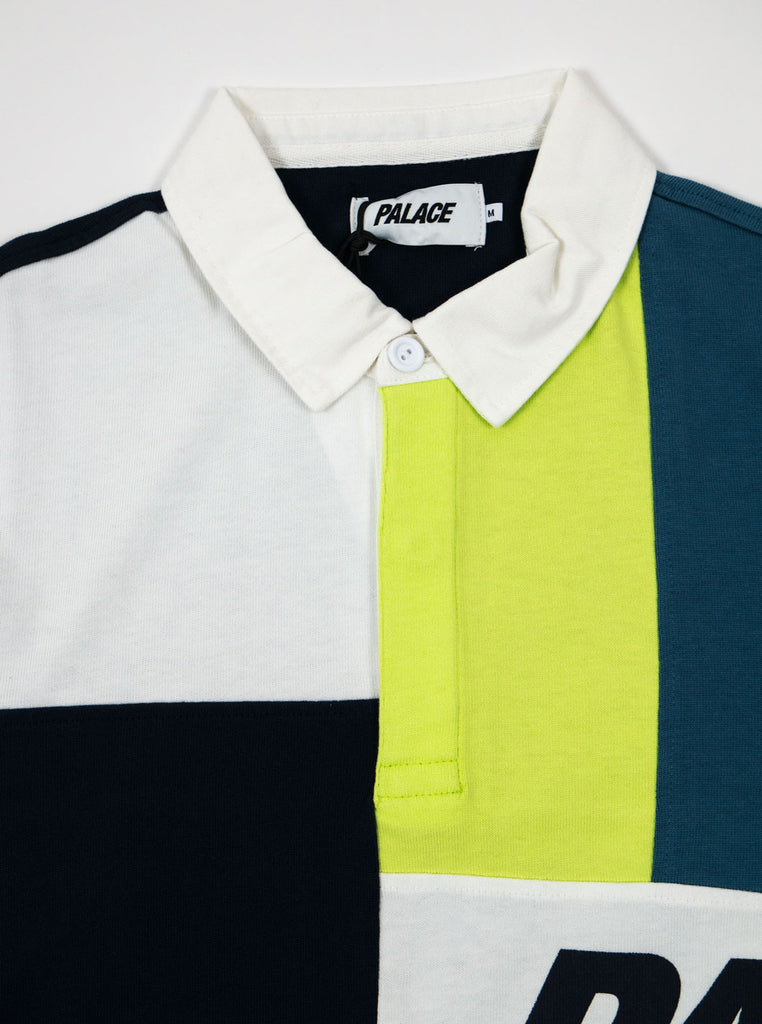 Palace Skateboards P11es007 Patchwork Rugby Shirt