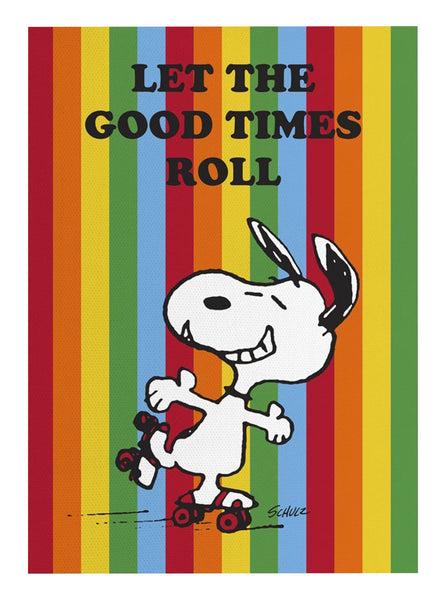 Peanuts - Let the Good Times Roll Tea Towel - Striped
