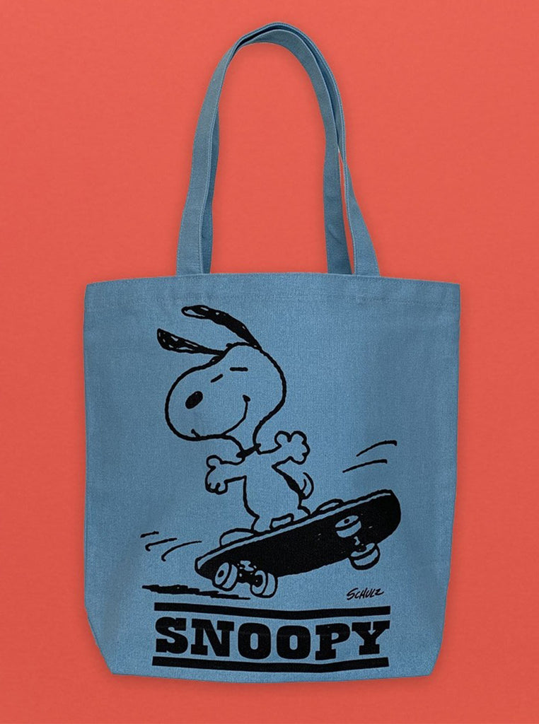 Peanuts Snoopy Tote Blue Sensible The Northern Fells Clothing Company Front