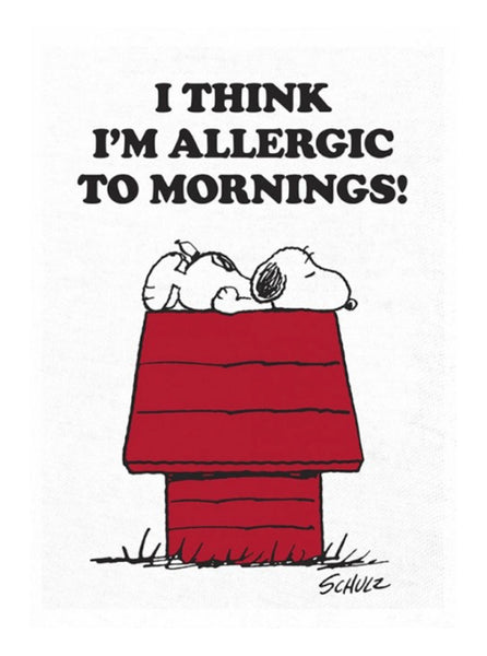 Peanuts Tea Towel Mornings The Northern Fells Clothing Company Image