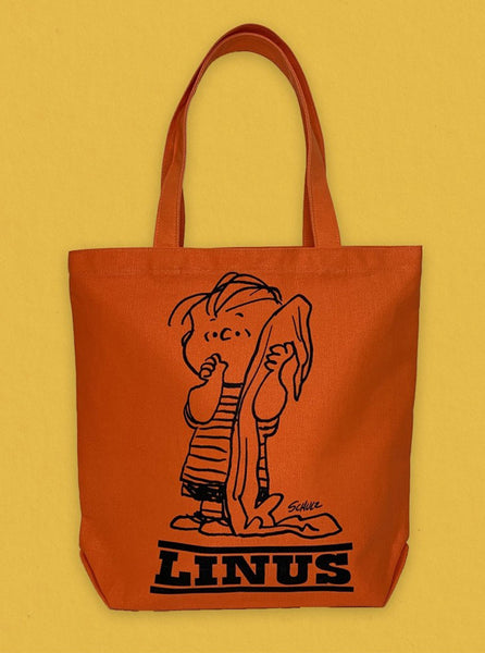 Peanuts Tote Linus Orange The Northern Fells Clothing Company Front