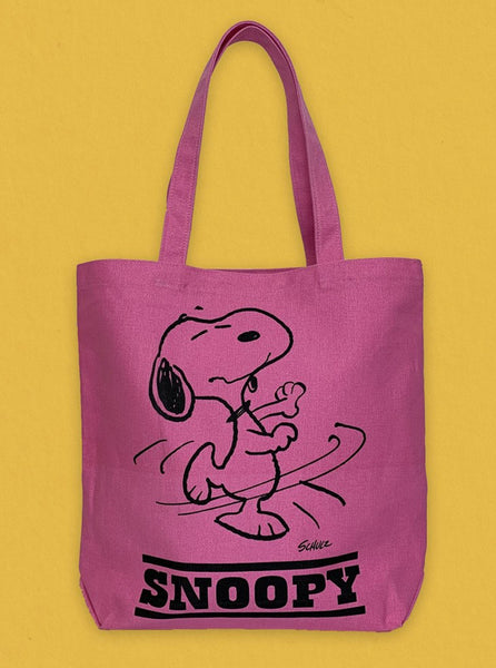 Peanuts Tote Pink Dance The Northern Fells Clothing Company Front