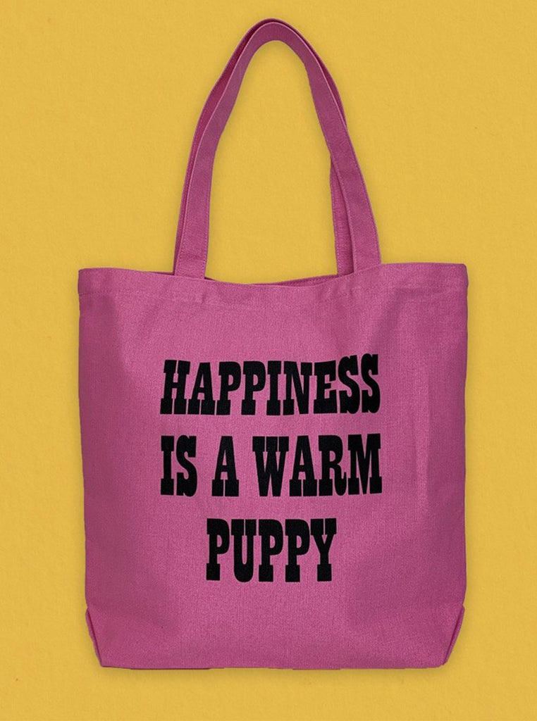 Peanuts Tote Pink Puppy The Northern Fells Clothing Company Back