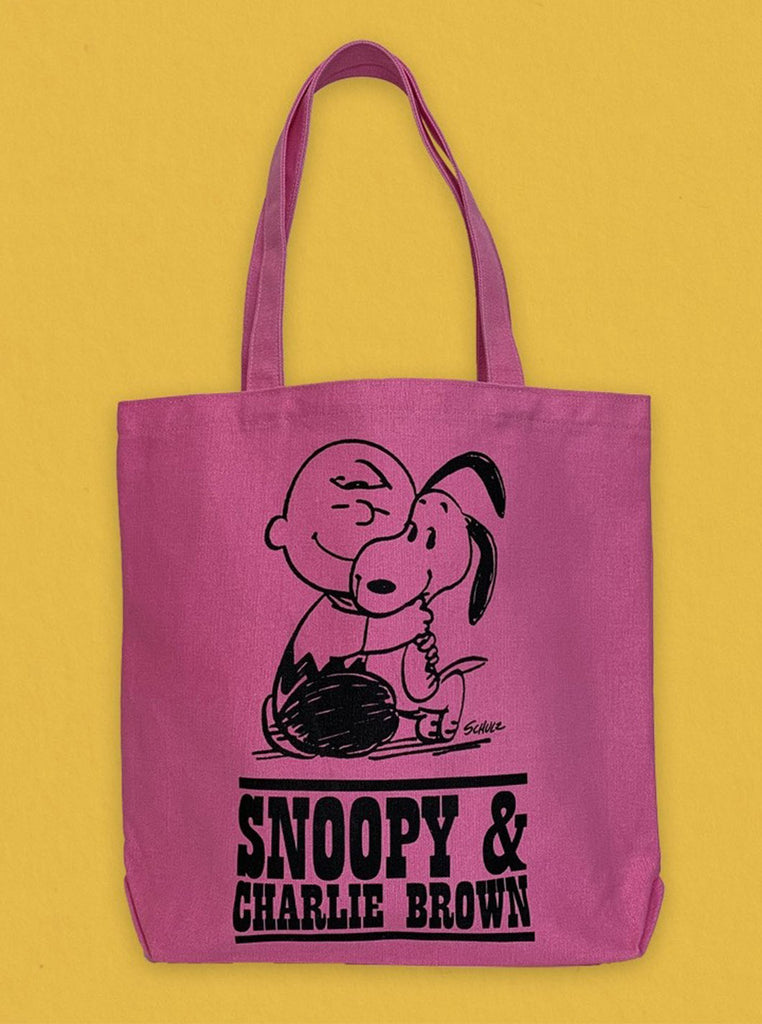 Peanuts Tote Pink Puppy The Northern Fells Clothing Company Front