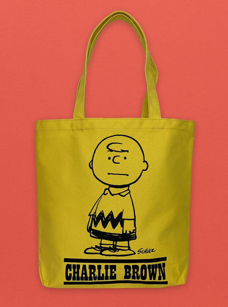Peanuts Tote Yellow Charlie Brown The Northern Fells Clothing Company Front