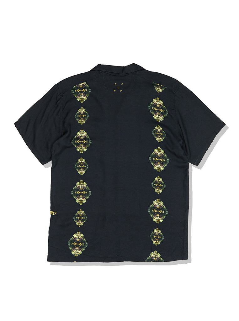 Pop X Wayward Coral Links Short Sleeve Shirt Black The Northern Fells Clothing Company Back