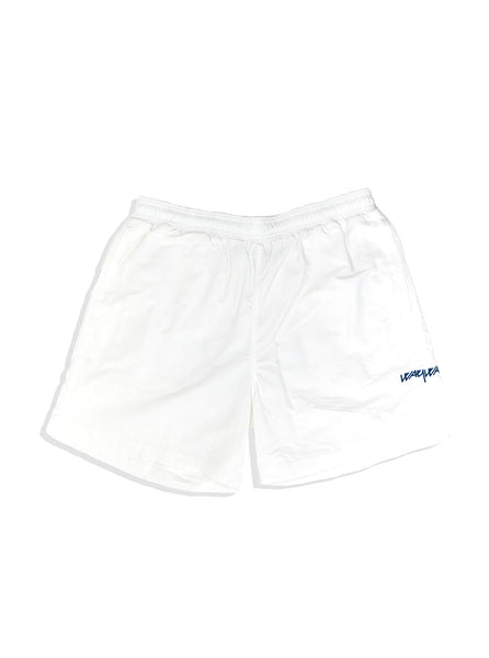 Pop X Wayward Snowy Shorts White The Northern Fells Clothing Company Front