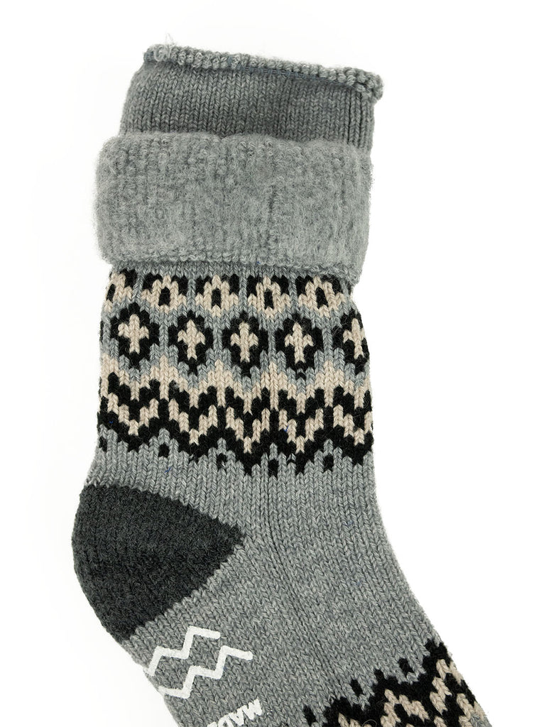 ROTOTO Nordic House Sock Grey The Northern Fells Clothing Company Detail