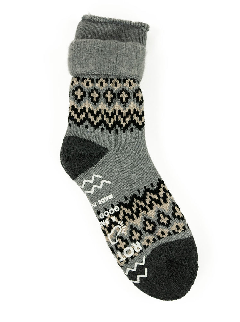 ROTOTO Nordic House Sock Grey The Northern Fells Clothing Company Full