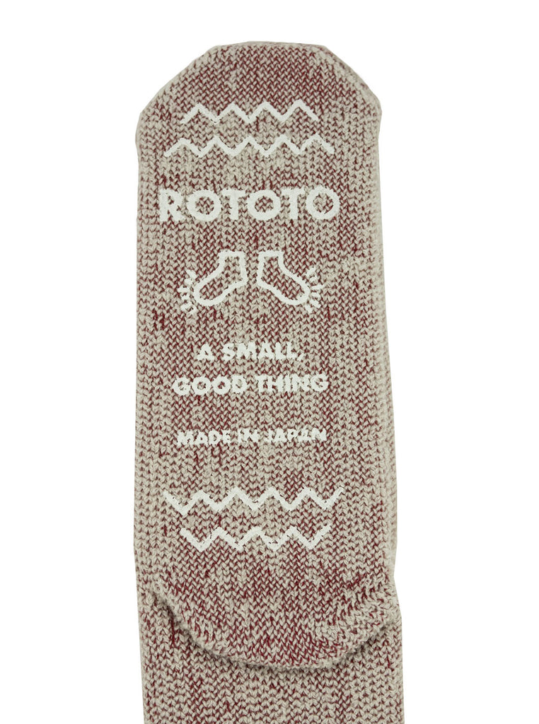 ROTOTO R1330 Extra Fine Merino Premium Bulky Socks Red White The Northern Fells Clothing Company Detail