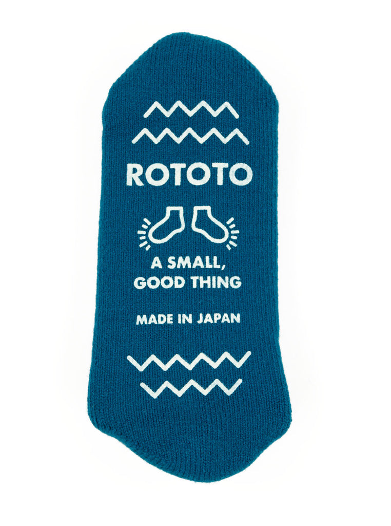 ROTOTO R1333 Pile Slipper Sock Sea Blue The Northern Fells Clothing Company Detail